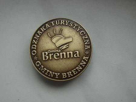 Złota Odznaka Turystyczna gminy Brenna (kliknięcie spowoduje powiększenie obrazu)