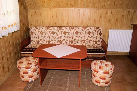 Domki nad Strumykiem - salon (kliknięcie spowoduje powiększenie obrazu)