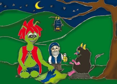 Kacperek - Górecki Skrzat wraz z kolegami - ilustracja  (kliknięcie spowoduje powiększenie obrazu)
