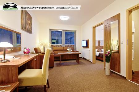 Apartament w budynku SPA dwupokojowy - salon (kliknięcie spowoduje powiększenie obrazu)