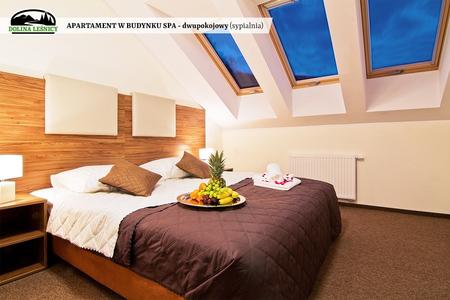 Apartament w budynku SPA dwupokojowy - sypialnia (kliknięcie spowoduje powiększenie obrazu)