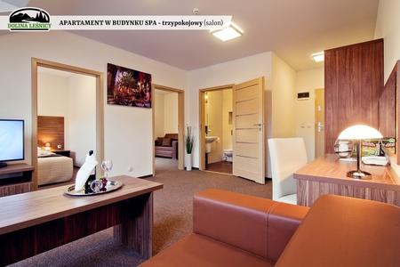 Apartament w budynku SPA trzypokojowy - salon (kliknięcie spowoduje powiększenie obrazu)