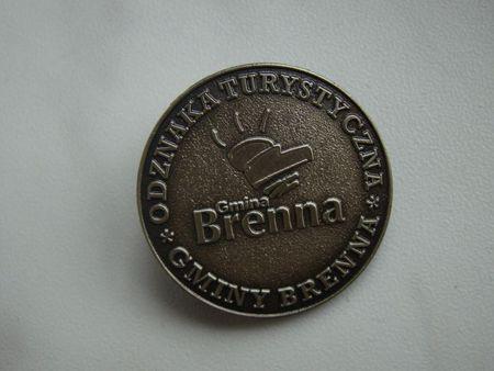 Srebna Odznaka Turystyczna Gminy Brenna (kliknięcie spowoduje powiększenie obrazu)