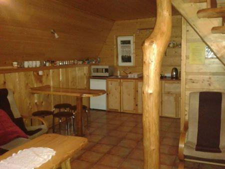 Domki u Danki - kuchnia z salonem (kliknięcie spowoduje powiększenie obrazu)