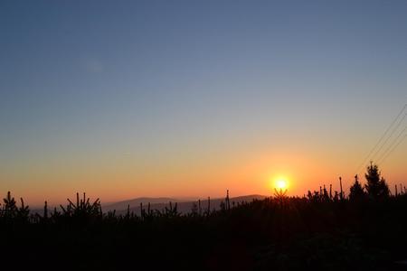 Błatnia - zachód słońca (kliknięcie spowoduje powiększenie obrazu)