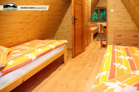 Domek BRDA - sypialnia (kliknięcie spowoduje powiększenie obrazu)