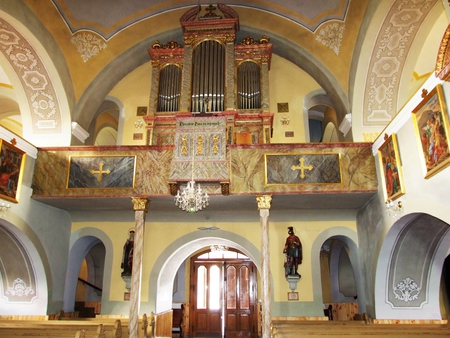 Kościół pw. św. Jana Chrzciciela w Brennej - wnętrze  (kliknięcie spowoduje powiększenie obrazu)