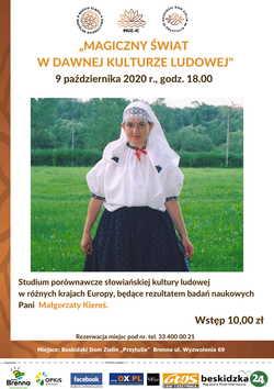Małgorzata Kiereś w stroju ludowym