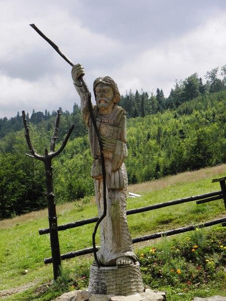 Rzeźba św. Jakuba na Karkoszczonce (kliknięcie spowoduje powiększenie obrazu)