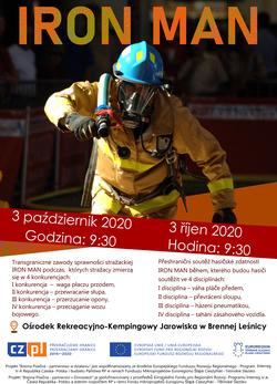 Plakat dotyczący zawodów strażackich IRONMAN!