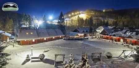 Panorama Doliny Leśnicy - zima (kliknięcie spowoduje powiększenie obrazu)